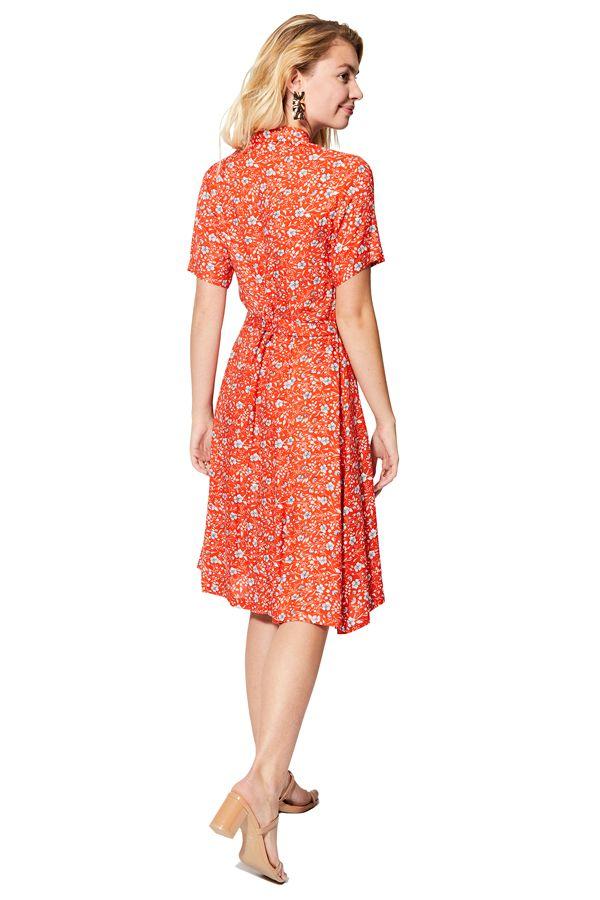 Robe chemise femme florale à manches courtes mode chic Elida