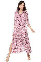 Robe chemise longue pour femme à manches chic et fluide Meagan