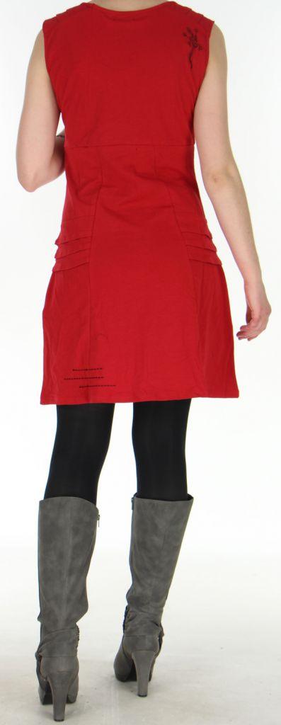 Robe Chic d'hiver sans manches Tribale et Originale Estal Rouge 278907