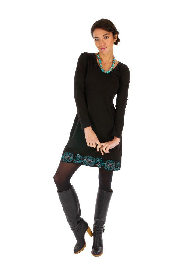Robe chic et originale à manches longues en coton Grimari 313884