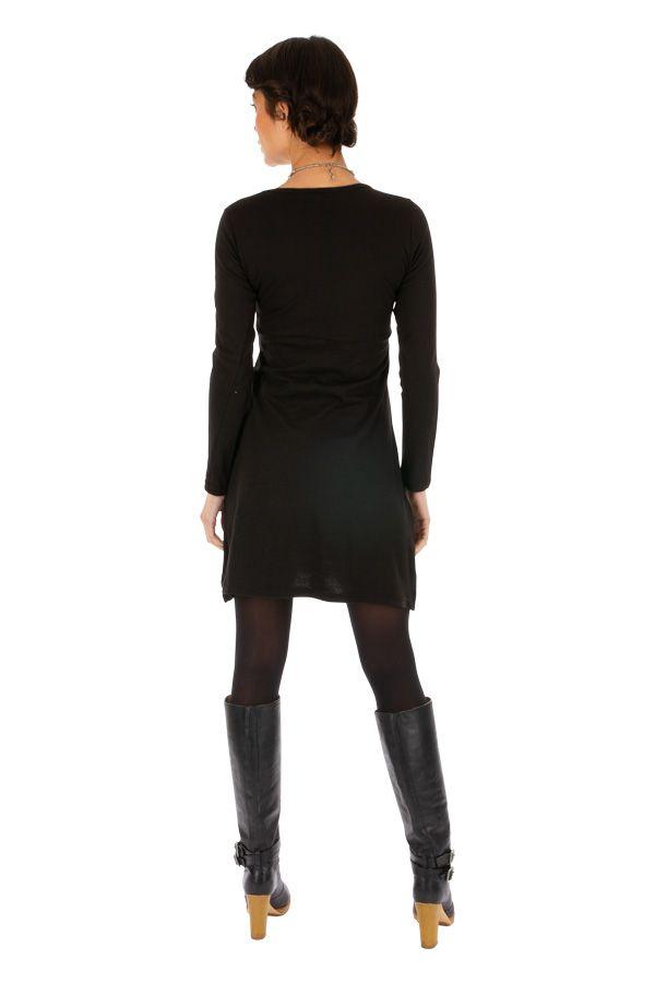 Robe chic et originale à manches longues en coton Grimari 313885