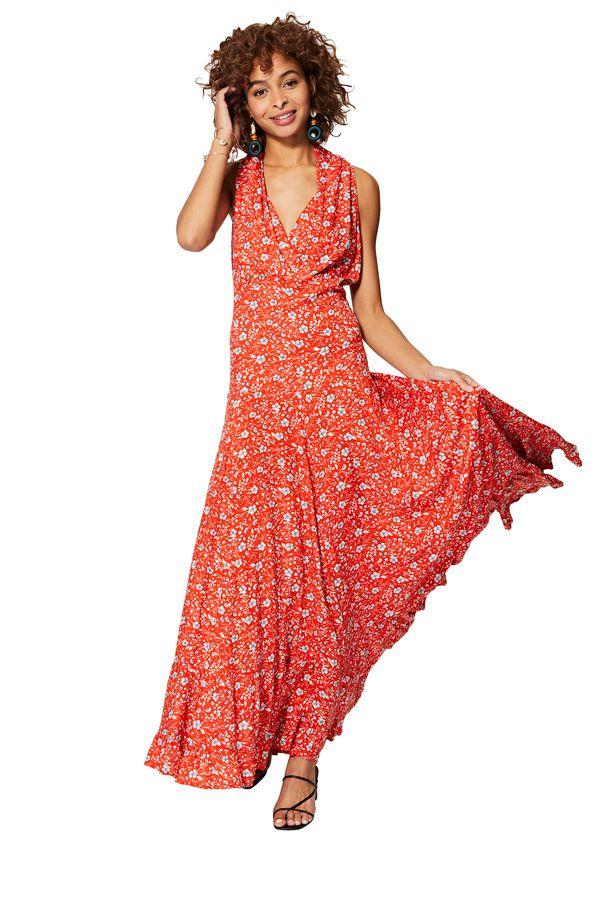 Robe chic longue femme été bohème et florale Mariette