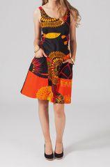 Robe coloré noire et orangée Florence 318834
