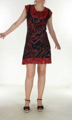 Robe colorée à fermeture rouge Ziplah 299665