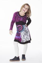 Robe colorée aux imprimés originaux pour fille 287190