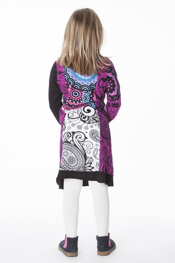 Robe colorée aux imprimés originaux pour fille 287191