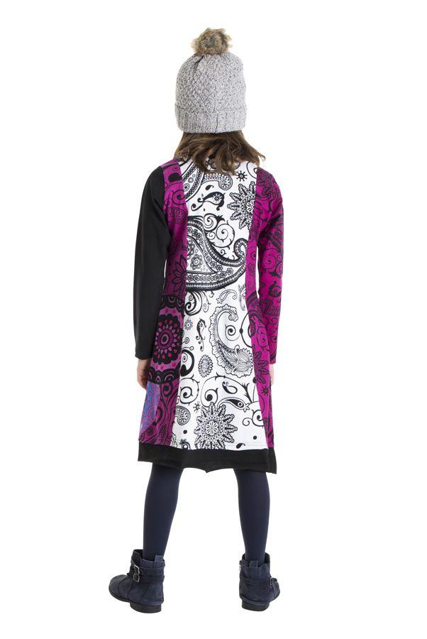 Robe colorée aux imprimés originaux pour fille 302199