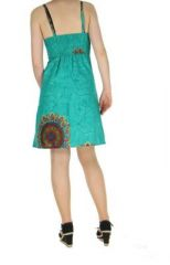 Robe colorée dos-nu turquoise Alexa 268244