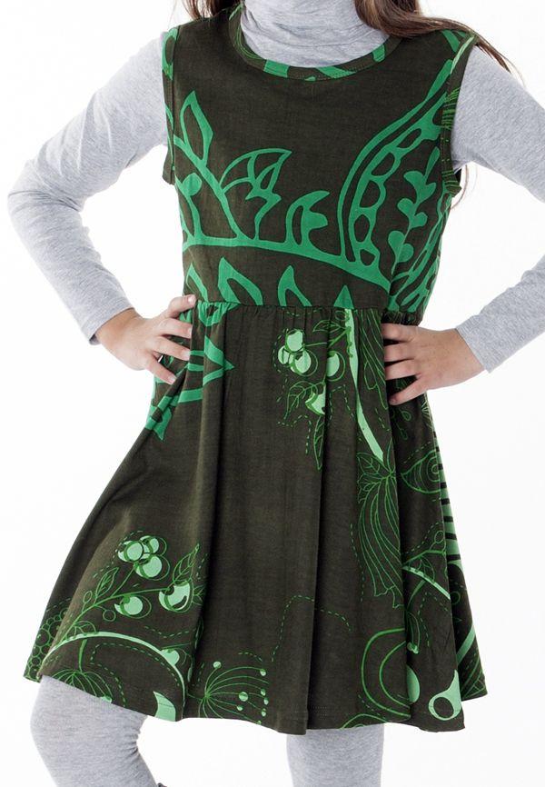 Robe colorée et élastiquée à la taille pour fille 287382
