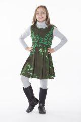 Robe colorée et élastiquée à la taille pour fille 287383