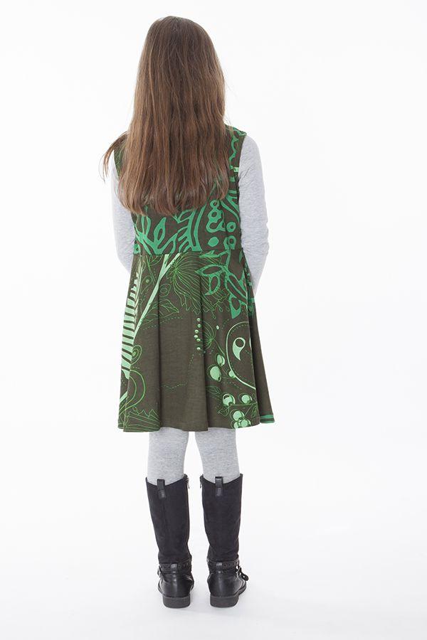 Robe colorée et élastiquée à la taille pour fille 287384