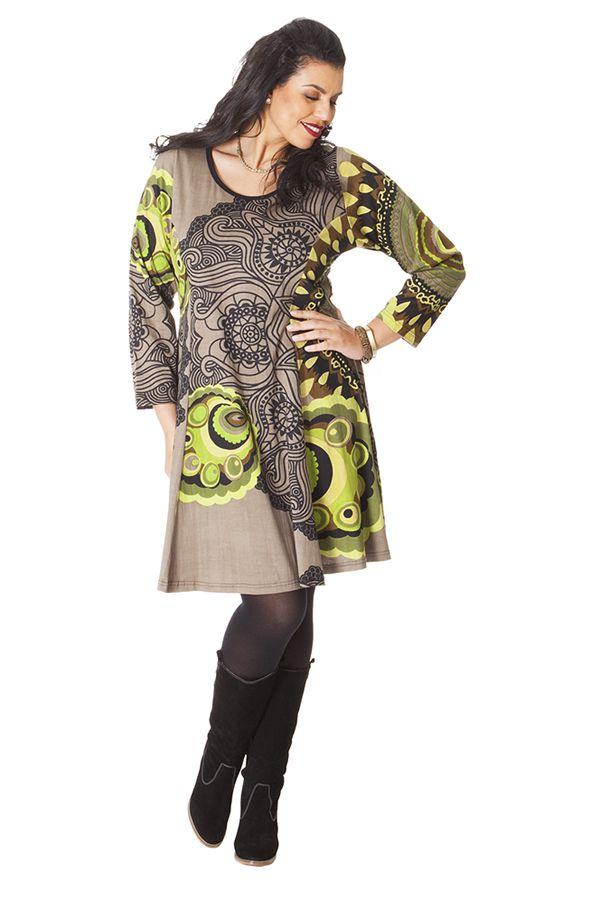 Robe Colorée et Féminine King size Sable et Anis Mazzi 286255
