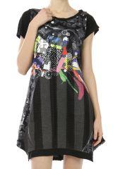 Robe colorée et originale courte pour l'été Yasmine 302992