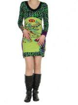 Robe colorée moulante verte Nayssa 267363