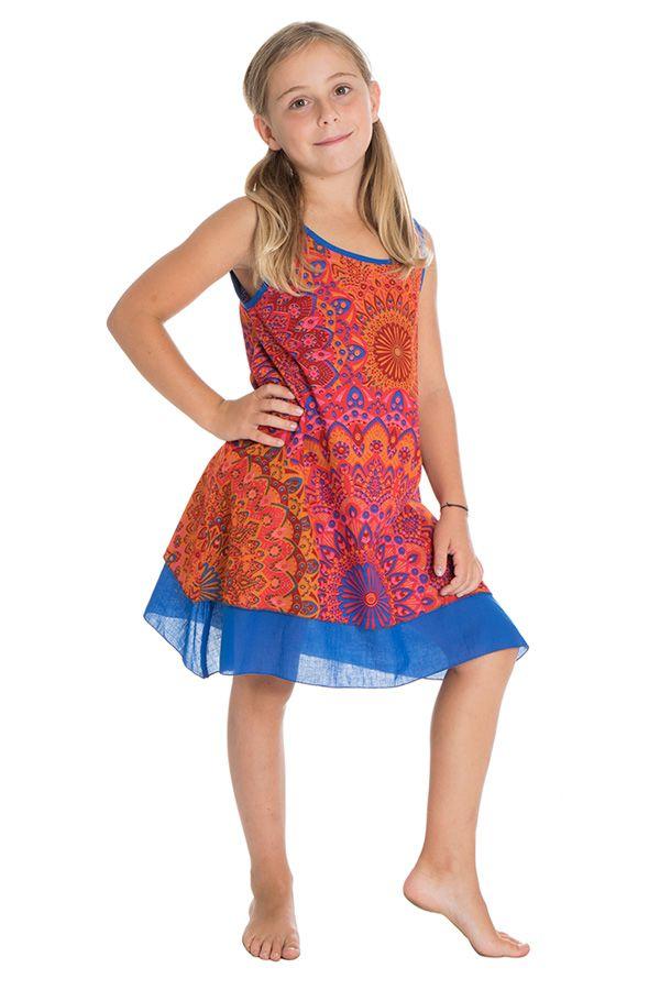 Robe colorée pour enfant à doublure en voile de coton Lara 294556