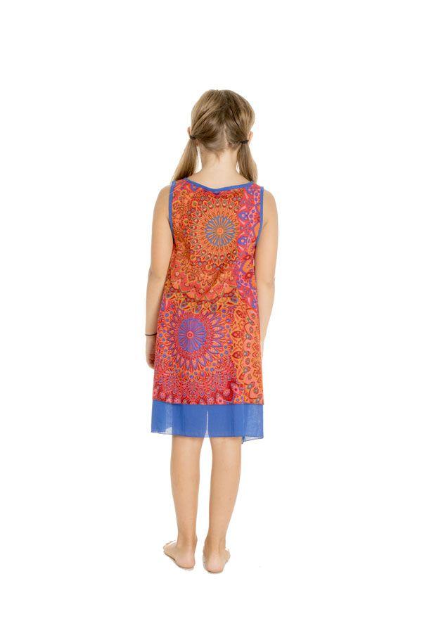 Robe colorée pour enfant à doublure en voile de coton Lara 294557