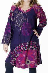 Robe colorée pour fille à manches longues Nadia 287349