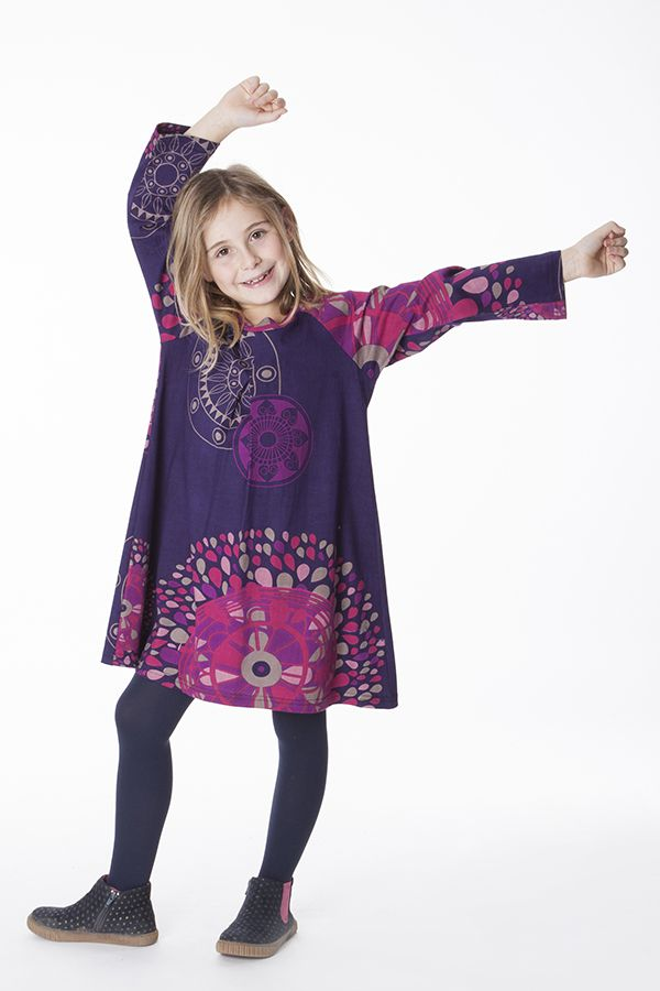 Robe colorée pour fille à manches longues Nadia 287350