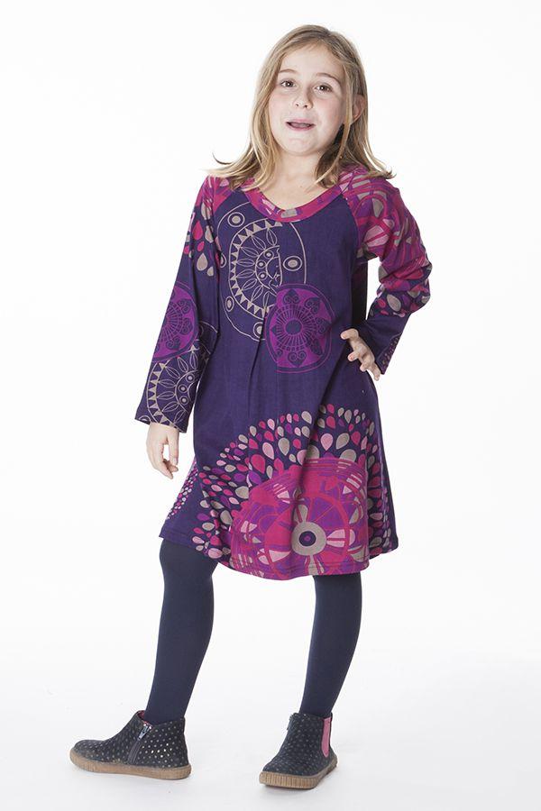 Robe colorée pour fille à manches longues Nadia 287351