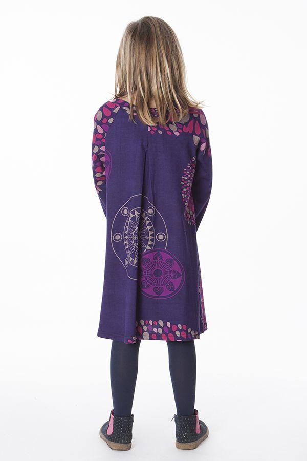 Robe colorée pour fille à manches longues Nadia 287352
