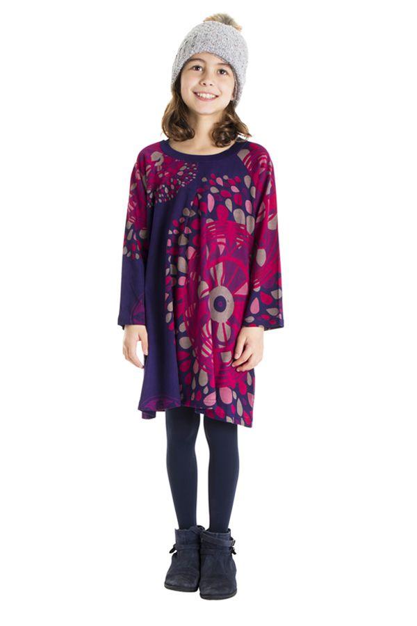 Robe colorée pour fille à manches longues Nadia 302244