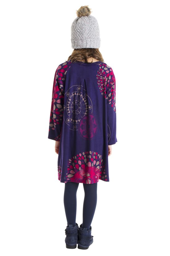 Robe colorée pour fille à manches longues Nadia 302245