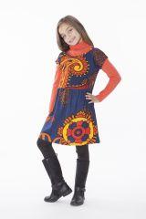Robe colorée pour petite fille pas chère avec un imprimé 287435