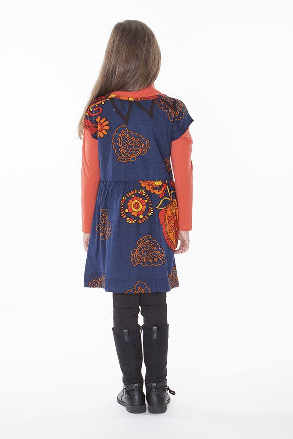 Robe colorée pour petite fille pas chère avec un imprimé 287436