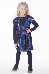 Robe colorée pour petite fille pas chère de couleur bleu 287426