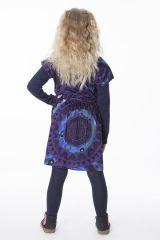 Robe colorée pour petite fille pas chère de couleur bleu 287427