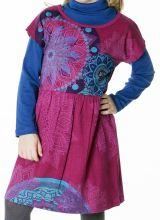 Robe colorée pour petite fille pas chère de couleur rose 287428
