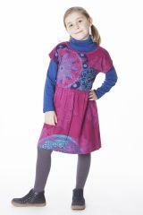 Robe colorée pour petite fille pas chère de couleur rose 287429
