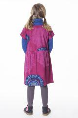 Robe colorée pour petite fille pas chère de couleur rose 287430