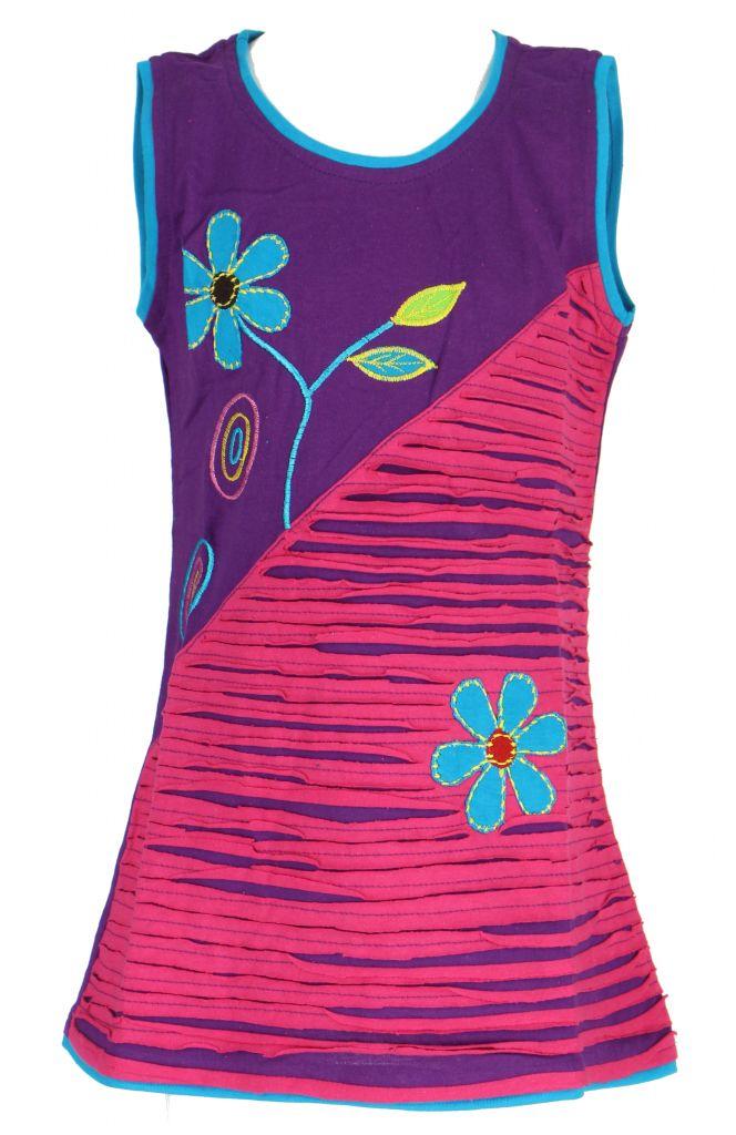 Robe colorée violette pour fille Laura 268615