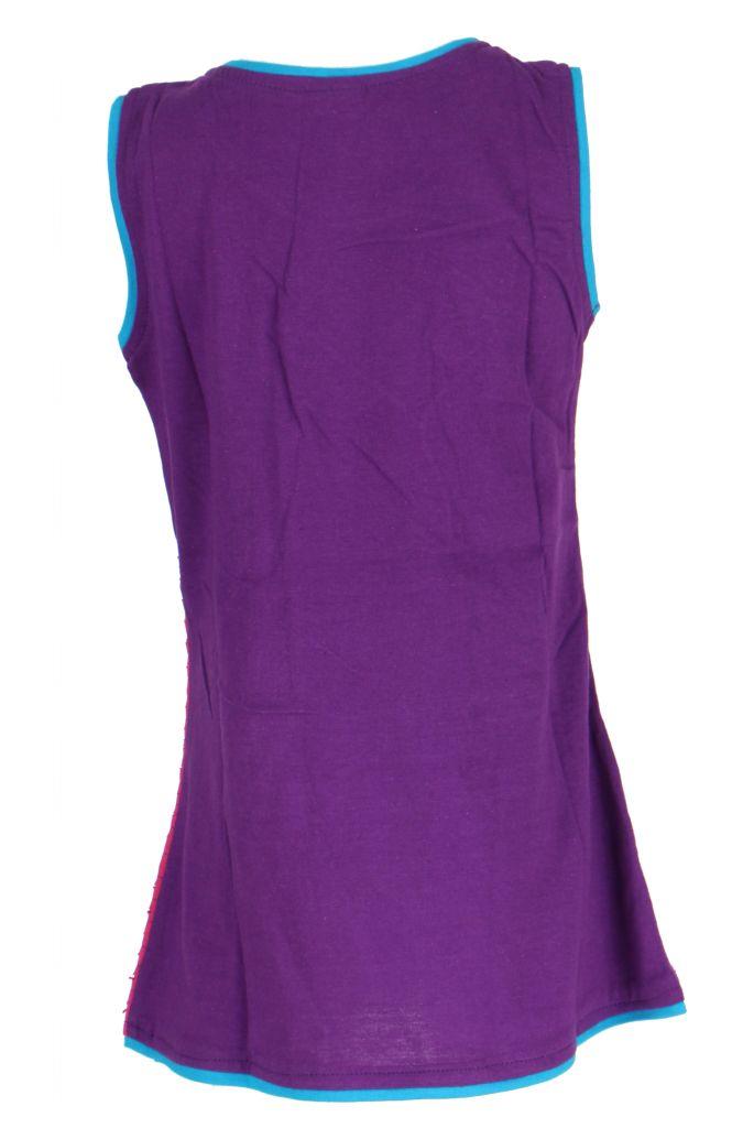 Robe colorée violette pour fille Laura 268616