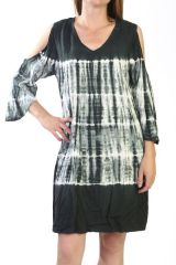 robe courte 100% rayonne avec imprimés tie&die vert Renesmée 290888