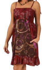 Robe courte à bretelles à nouer Ethnique et Féminine Channa 283364