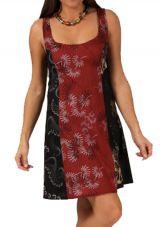 Robe courte à bretelles Ethnique et Fantaisie Ubika Bordeaux 283350