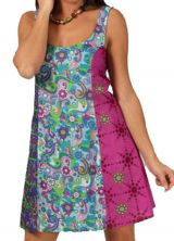 Robe courte à bretelles Ethnique et Fantaisie Ubika Rose 283353