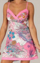 Robe courte à bretelles réglables Colorée et Fantaisie Alexandra 277816