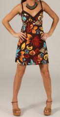 Robe courte à bretelles réglables Imprimée et Colorée Christy 279661