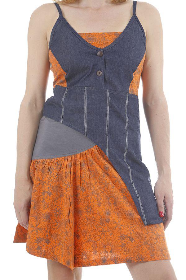 Robe courte à bretelles réglables tendance et fun Fiorine 311863