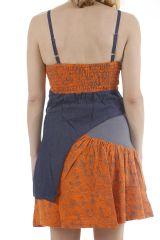Robe courte à bretelles réglables tendance et fun Fiorine 311864