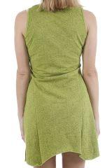 Robe courte à col rond colorée et atypique Valérianne 310895