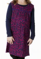 Robe courte à col rond colorée pour enfant 287375