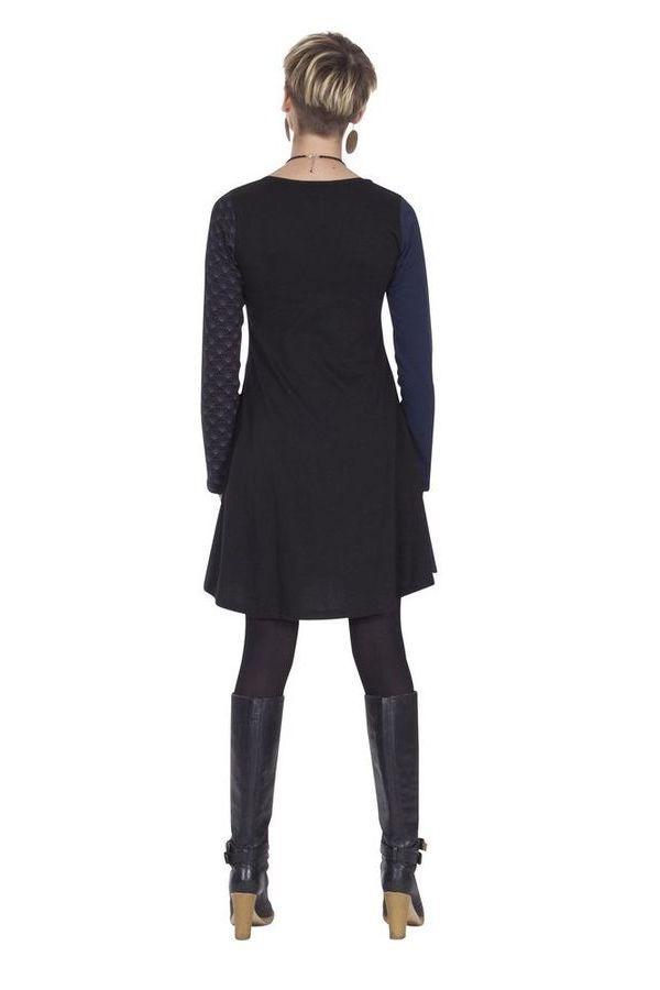 Robe courte à col rond Originale et Colorée Abril Rose 285330