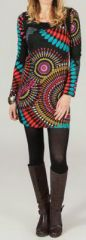 Robe courte à col rond Originale et Ethnique Adelina 274148