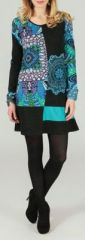 Robe courte à col rond Originale et Ethnique Naémi 273981