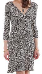 Robe courte à effet portefeuille Glamour et Imprimée Blanche 282153