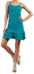 Robe courte à fines bretelles Colorée et Originale Innoa Turquoise 277083